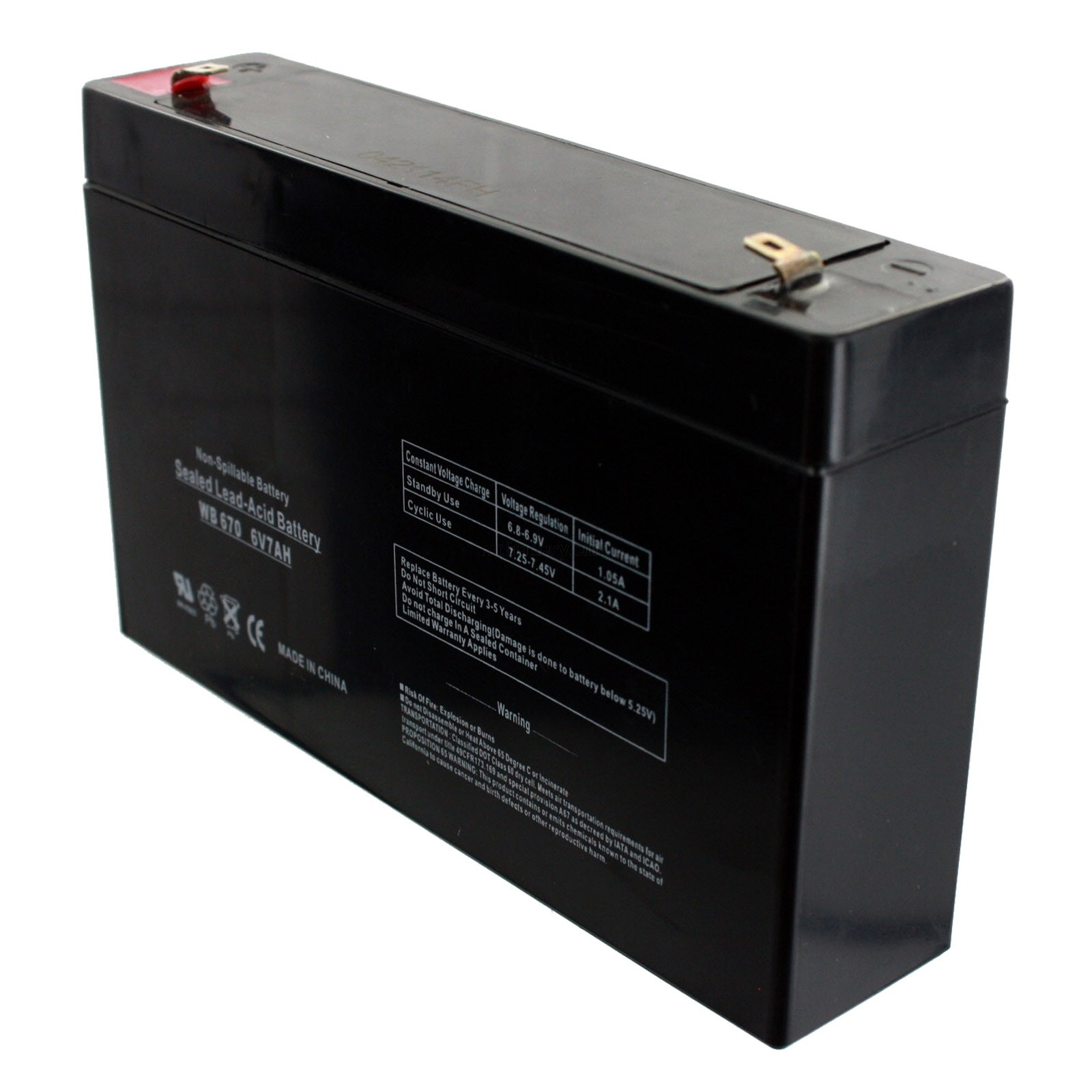 UPG 6V 7AH Replacement Battery for Upsonic SLIM 1000 WITH CHARGER