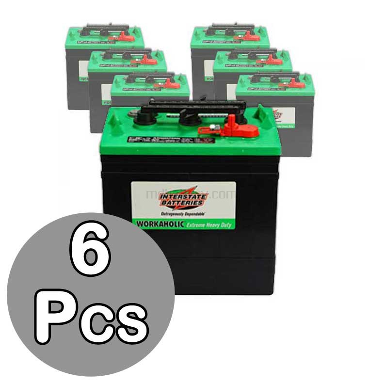 6 x 232ah 6v wet deep cycle battery interstate gc2 xhd for golf carts. Black Bedroom Furniture Sets. Home Design Ideas