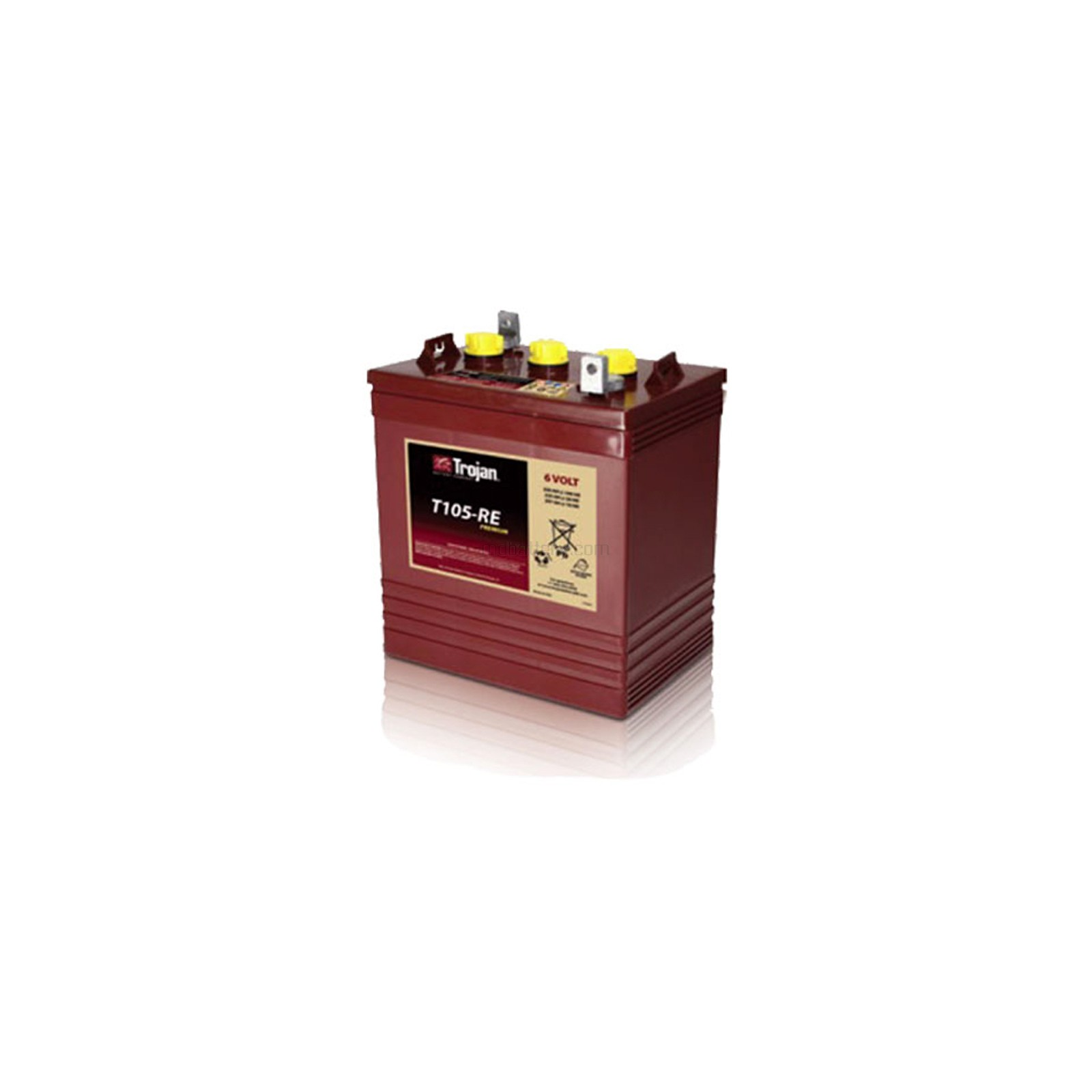Trojan Deep Cycle Battery T105-RE Renewable Energy 6V GC2 225Ah on