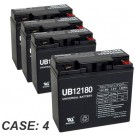 12V 18Ah 4pk Sealed Lead Acid Batteries Universal UB12180 40648