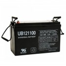 12V 110Ah AGM Alarm Battery UB121100 Replaces Ademco 484