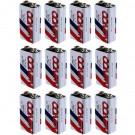 Winco Alkaline Battery 901_12 Replaces 6LR61XWA 6LR61 6LF22 - 12pc