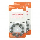 Hearing Aid Battery A13/B10_20 Evergreen 20pk, Size A13, Zinc Air
