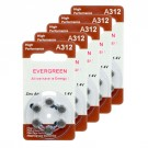Hearing Aid Battery A312/B6_30 Evergreen 30pk, Size A312, Zinc Air