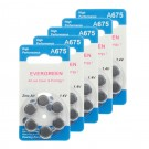 Hearing Aid Battery A675/B6_30 Evergreen 30pk, Size 675, 1.4V