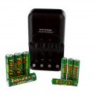 NI-ZN Battery Charger Combo with 4pk AA NI-ZN, 4pk AAA NI-ZN Batteries