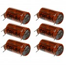 6 x Fuji 2/3 8-L 3V Photo Lithium Battery with Pin Tabs