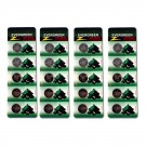 20pc Evergreen Coin Cell Battery CR2032 3V Lithium Replaces DL2032
