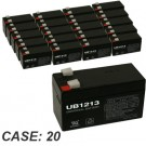 12V 1.3Ah 20pk Sealed Lead Acid Batteries Universal UB1213 D5738