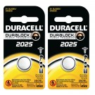 2pk Duracell Coin Cell Battery DL2025 Lithium Replaces CR2025, ECR2025