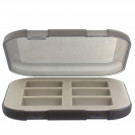 Battery Storage Box Holds 6 CR123 Batteries with Non-Skid Feet Khaki