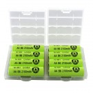 Interlocking Battery Storage Boxes with 8 AA Evergreen Batteries