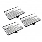 3pc eBook Battery EBBK-PDA288LI for Barnes & Noble Nook, Nook Classic