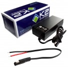 K2 Energy K2C12V4A 12V 4Ah LiFePO4 Smart Charger with Wire Leads