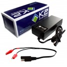K2 Energy K2C12V4A 12V 4Ah LiFePO4 Smart Charger with Alligator Clips