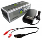K2 Energy K2C24V2A 24V 2Ah LiFePO4 Smart Charger with Alligator Clips