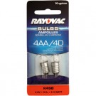 Rayovac K4SB-2 Krypton Bulb 2pk 2.4 W for 4AA or 4D Flashlights