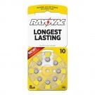 Hearing Aid Battery L10ZA-8ZM Rayovac 8pk, Size 10, Mercury-Free