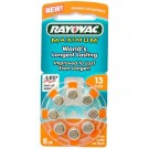 Rayovac L13ZA, VT13, XL13, Size 13 Hearing Aid 8pk Batteries