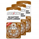 Hearing Aid Battery L312ZA-8ZM/24 Rayovac 24pk, Size 312, Mercury Free