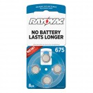 Hearing Aid Battery L675ZA-8ZM Rayovac 8pk, Size 675, Mercury-Free