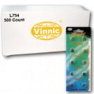 Vinnic L754 500Ct Watch Batteries 1.5V Alkaline 393 309 LR48 AG5