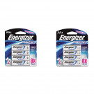 2x Energizer 4 Pack  AA 1.5V Ultimate Lithium Long Lasting Batteries