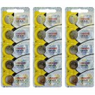 15pc Maxell 3V Lithium Coin Cell Battery CR1620 Replaces DL1620