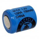 1/3AA Size Rechargeable Battery 150mAh NiCd Flat Top Cell