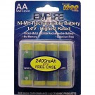 Empire NoMEM AA Rechargeable Batteries 2600mAh 1.2V Ni-MH 4pk