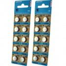 2x 10pk Vinnic S1154 Silver Oxide Button Cell Watch Battery- 357/303