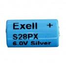 Exell S28PX 6V Silver Oxide Battery 4SR44, V28PX, PX28, 544,