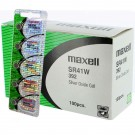 100pk Maxell Silver Oxide Watch Battery SR41W High Drain Replaces 392