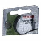 Maxell Silver Oxide Watch Battery SR716SW Low Drain Replaces 315 SR67
