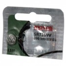 Maxell Silver Oxide Watch Battery SR726W High Drain Replaces 396 SR59