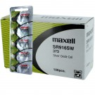 100pk Maxell Silver Oxide Watch Battery SR916SW Low Drain Replaces 373
