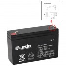 6V 12Ah SLA Battery Rechargeable AGM replaces UB6120, D5778, PS-6100