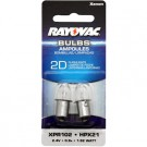 Rayovac XPR102-2 Xenon Bulbs HPX21 1.92 Watt fits 2D flashlights