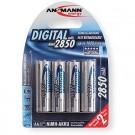 Ansmann Energy AA Rechargeable Batteries 2850mAh Ni-MH 1.2V 4pk