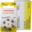 Evergreen AC10, DA10H, ZA10 Size 10 Hearing Aid 60pk Batteries
