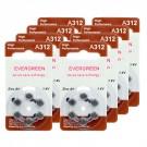 Hearing Aid Battery A312/B6_48 Evergreen 48pk, Size A312, Zinc Air
