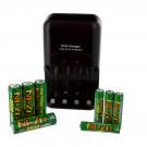 NI-ZN Battery Charger Combo with 4pk AA NI-ZN, 4pk AAA NI-ZN Batteries