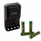 4pk NI-ZN 1.6V 1000mWh AAA Batteries with NI-ZN Battery Charger Combo