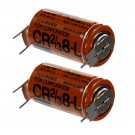 2x Fuji 2/3 8-L 3V Lithium Battery (ER17/33 equivalent) with Pin Tabs