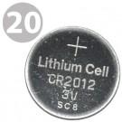 Exell CR2012 Lithium 3V Coin Cell Batteries - DL2012 ECR2012