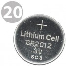 20pc Coin Cell Battery CR2012 3V Lithium Replaces DL2012, BR2012