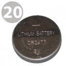 20pc Evergreen Coin Cell Battery CR2477 3V Lithium, DL2477, ECR2477