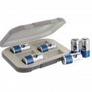 Battery Storage Box in Khaki with 6 Energizer CR123 Photo Batteries