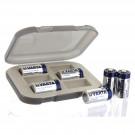 Battery Storage Box in Khaki with 6 Varta CR123 Lithium Batteries
