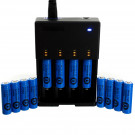 Exell Battery Charger Kit 12 x AA 1.2V Ni-Cad Batteries & Charger